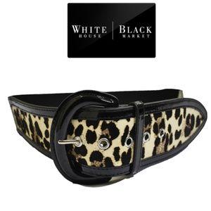 White House Black Market Wide Calf Leather  Belt